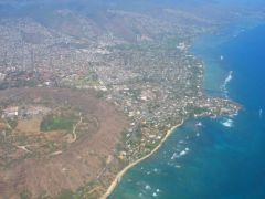 Widok na Oahu z samolotu