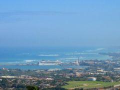 Widok na port w Kahului