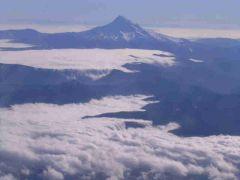 Mt  Hood - wulkan z lotu ptaka
