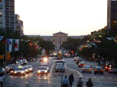 Ulica z flagami wszystkich narodów w Filadelfii
