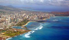 Honolulu - z samolotu