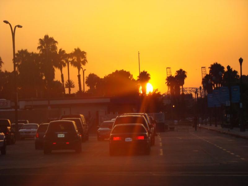 zachód słońca w LA